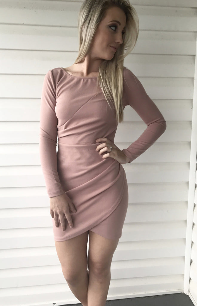 Mauve Over-Bodycon Dress