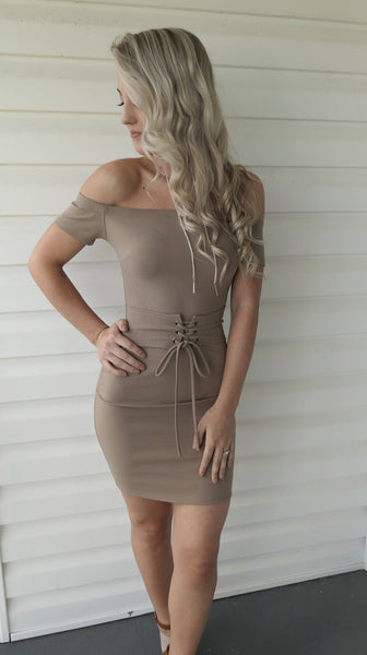 Tempting Taupe-Dress