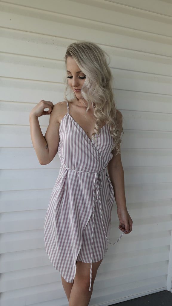 RESTOCK-Playful Pink Wrap-Dress