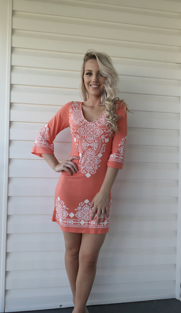 Peachy Pattern-Dress