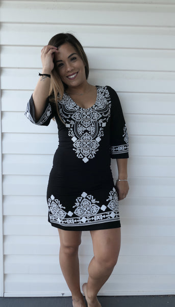 Black Pattern-Dress