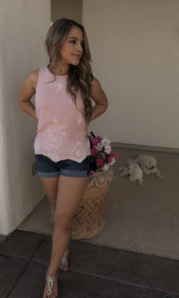 Baby Pink Floral Top