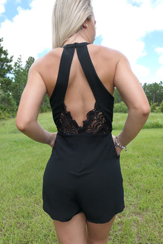 Little Lacey Black-Romper