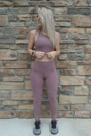 Mauve Active Leggings