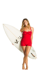 NWS-LGSS-R | Ladies 1mm Gidget Swimsuit in red