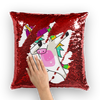 Sequin Pillow  Cover (Optional Insert) - UnicornsAreAwesome