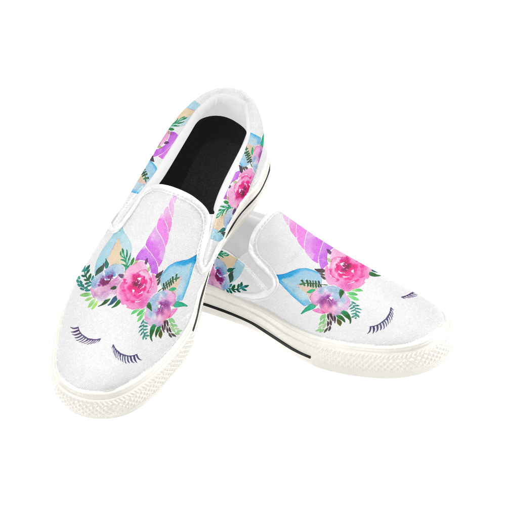 cda861e5f29 Princess Unicorn Slip-On Shoes for Women and Girls – UnicornsAreAwesome