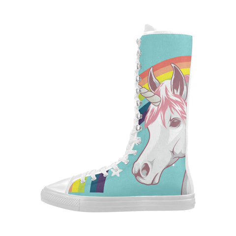 Awesome unicorn women shoes Knee High