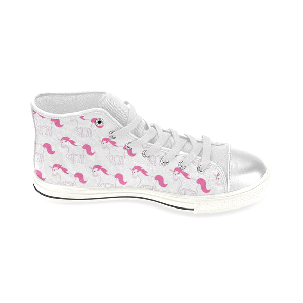Awesome Pink Unicorn Shoes, High Top (Large Size) - UnicornsAreAwesome