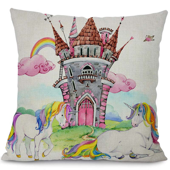 Colorful Unicorn Pillow Slips - UnicornsAreAwesome
