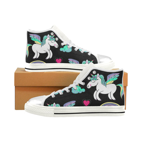 I Heart Unicorns High Tops - Kids Sizes