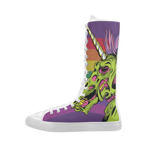 Awesome unicorn zombie shoes - women- Knee High