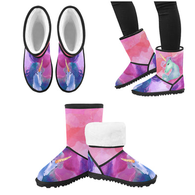 Mystical Unicorn Snow Boots (Kids) - UnicornsAreAwesome