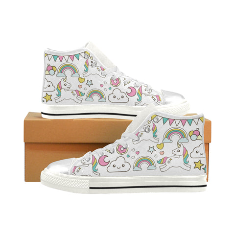 Awesome Unicorn/Rainbow Hightop Shoes (Kids Size)