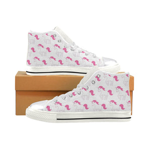 Awesome Pink Unicorn Shoes High Top (Women's) - UnicornsAreAwesome