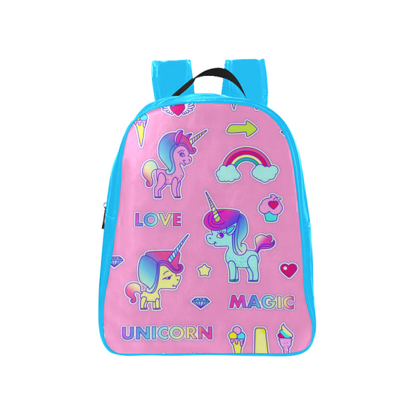 Pink & Blue Kids Backpack - UnicornsAreAwesome
