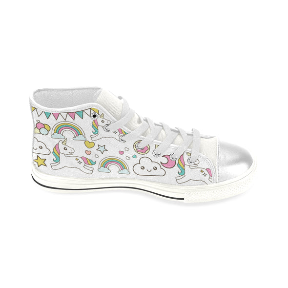 Awesome Unicorn/Rainbow Hightop Shoes (Kids Size) - UnicornsAreAwesome