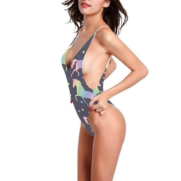 Unicorn Race Sexy One-Piece Bathing Suit - UnicornsAreAwesome