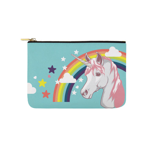Light Unicorn Wallet Pouch Carry-All Pouch 9.5''x 6''
