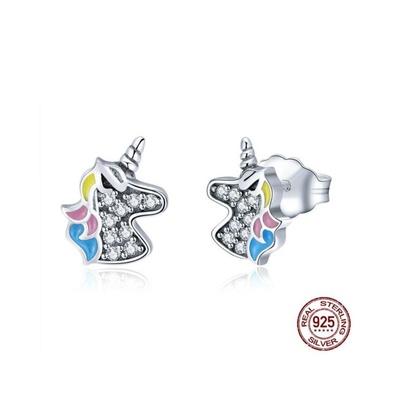 Sterling Silver Dazzling Unicorn Earrings - UnicornsAreAwesome
