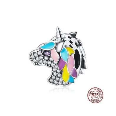 Sterling Silver Unicorn Charm - UnicornsAreAwesome