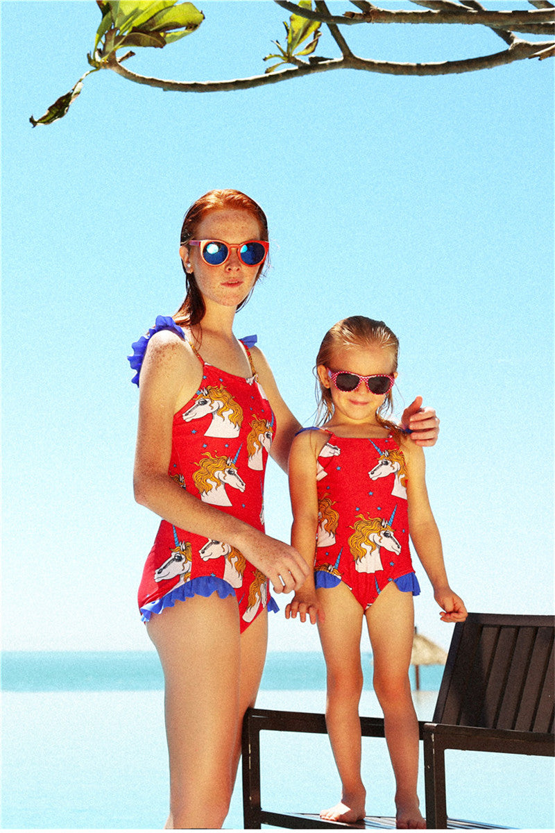 bfd2087143b75 Mother & Daughter Matching Bathing Suit – UnicornsAreAwesome