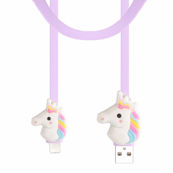 Rainbow Unicorn USB Charging Cable - UnicornsAreAwesome