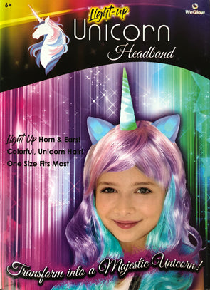 Unicorn Headband Wig with LED Lights