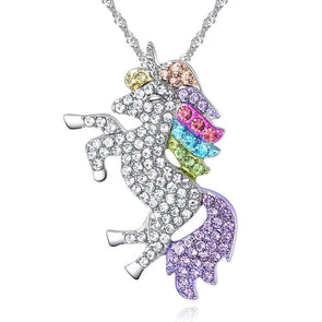 Crystal Unicorn Necklace - UnicornsAreAwesome
