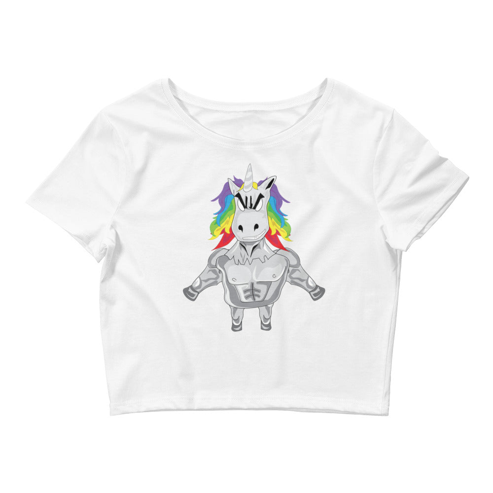 Awesome Unicorn Crop Top - Angry Unicorn