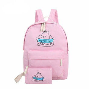 Nothing Is Impossible Backpack - UnicornsAreAwesome