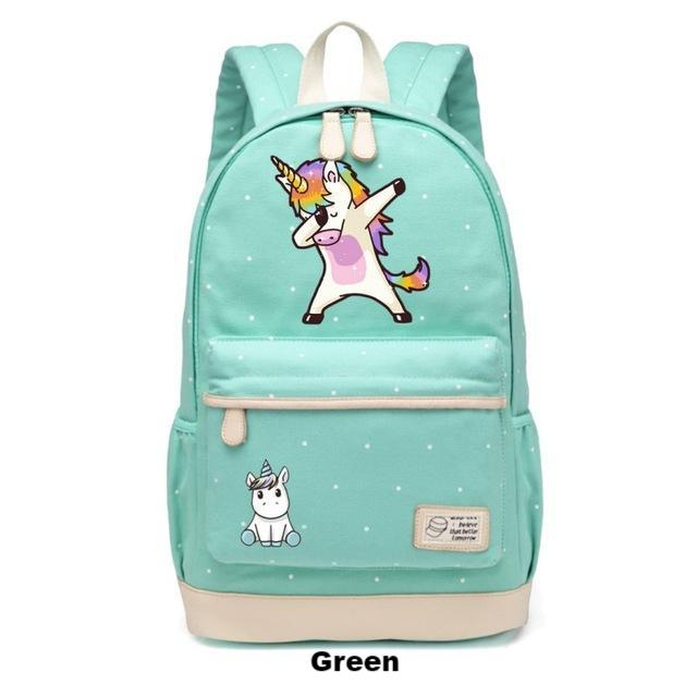 Dabbing Unicorn Backpack