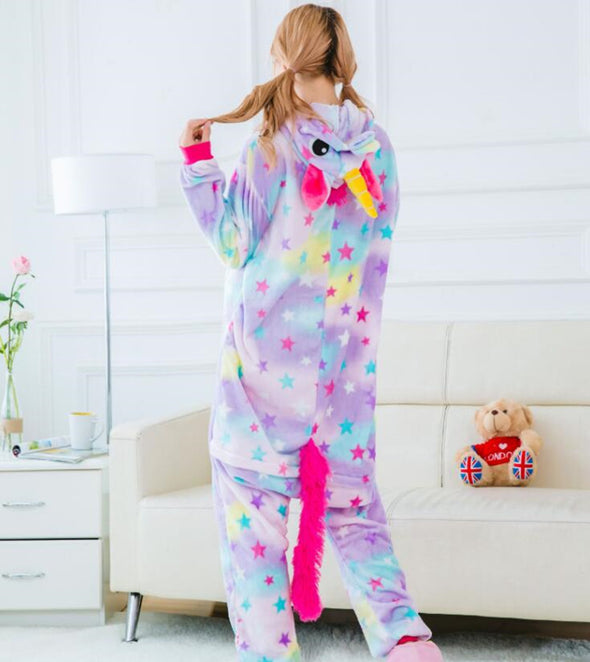 Rainbow & Star Adult  Onesie - UnicornsAreAwesome