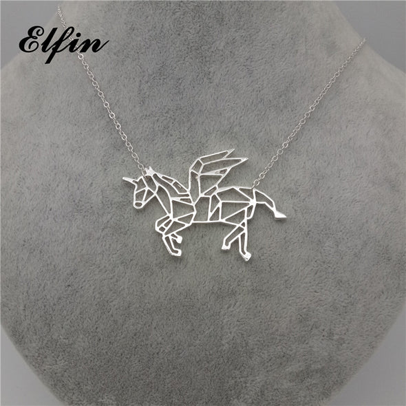 Flying Unicorn Necklace - UnicornsAreAwesome