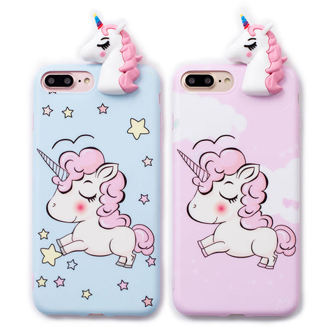 Cute 3D Unicorn Phone Case for iPhone