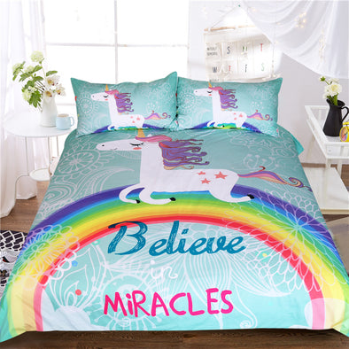 Magical Unicorn 3-Piece Bed Set - UnicornsAreAwesome