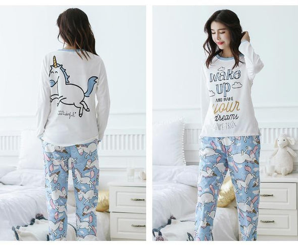 Unicorn Pajamas - Cotton Pajama Set - UnicornsAreAwesome