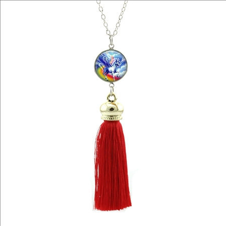 Tassel Unicorn Necklace - UnicornsAreAwesome