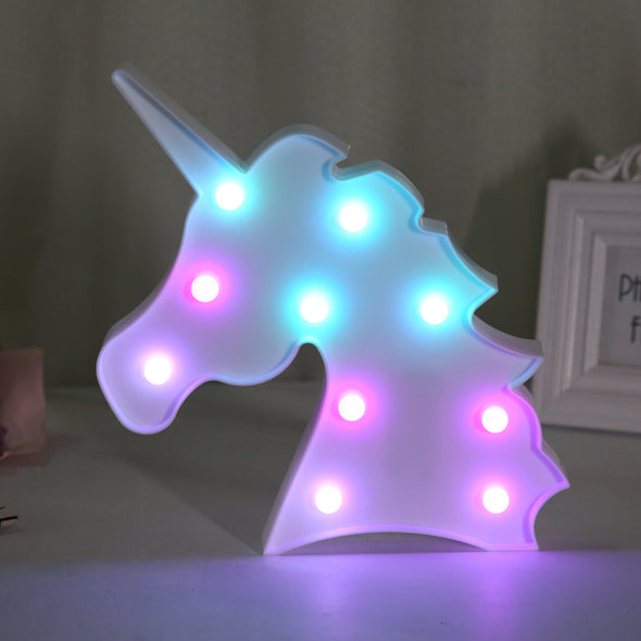 Colorful Unicorn Night Light - Unicorn Lamp - UnicornsAreAwesome