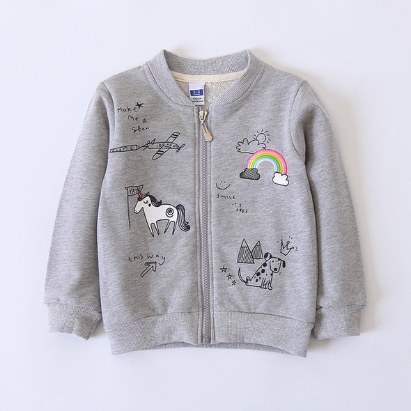 Sunshine & Rainbows Unicorn Jacket for Girls - UnicornsAreAwesome