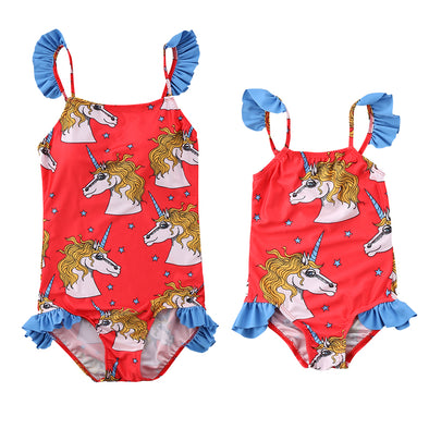 Mother & Daughter Matching Bathing Suit - UnicornsAreAwesome