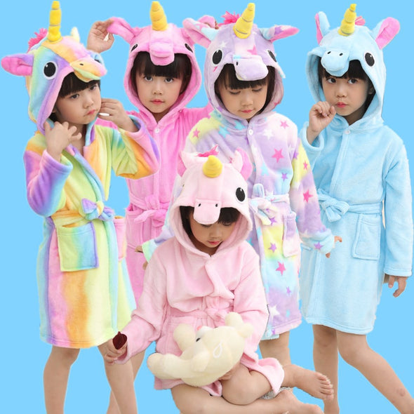 Unicorn Beach Towel Bathrobe - UnicornsAreAwesome
