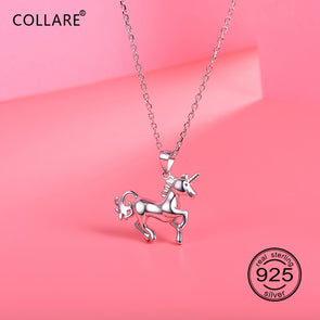 Sterling Silver Prancing Unicorn Necklace - UnicornsAreAwesome