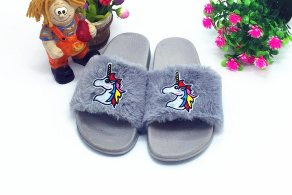 Slide-on Unicorn Slippers - UnicornsAreAwesome
