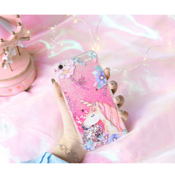 Liquid Quicksand Unicorn iPhone Case - UnicornsAreAwesome