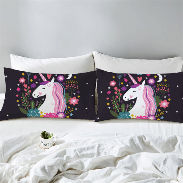 2PC Unicorn Pillow Case Set - UnicornsAreAwesome