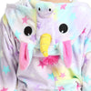 Fluffy Unicorn Pajamas - Long Sleeve Hooded Onesie - UnicornsAreAwesome