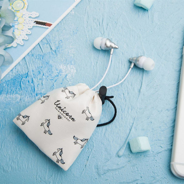 Earphones with Unicorn Pouch - UnicornsAreAwesome