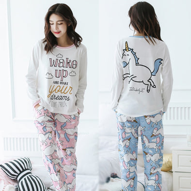 Unicorn Pajamas - Cotton Pajama Set