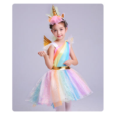 Girl's Unicorn Costume with Headband - UnicornsAreAwesome